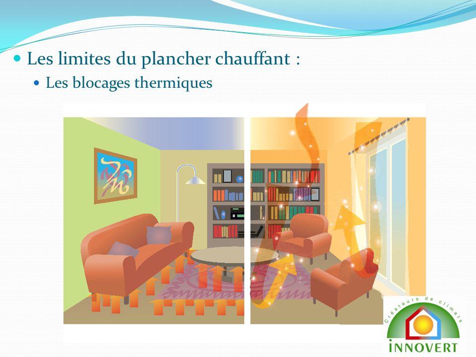 Les limites du plancher chauffant : Les blocages thermiques