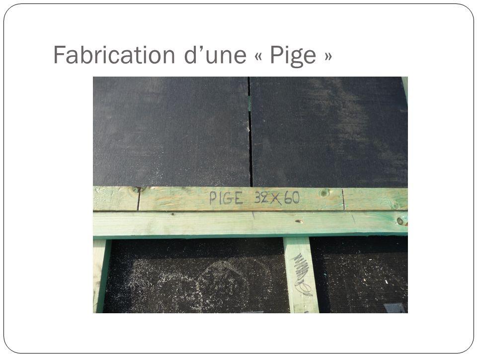 Fabrication dune « Pige »