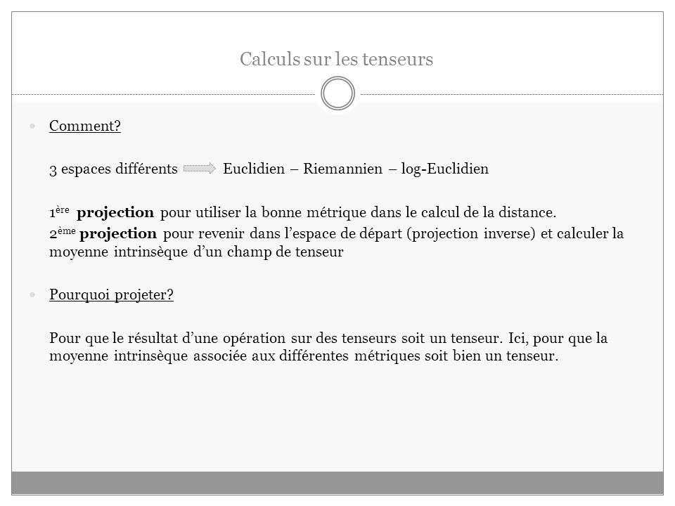 Calculs sur les tenseurs Comment.
