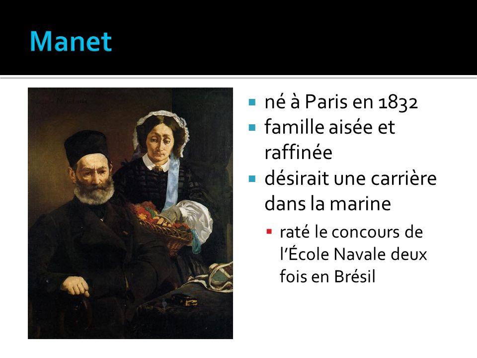 né à Paris en 1832 famille aisée et raffinée désirait une carrière dans la marine raté le concours de lÉcole Navale deux fois en Brésil