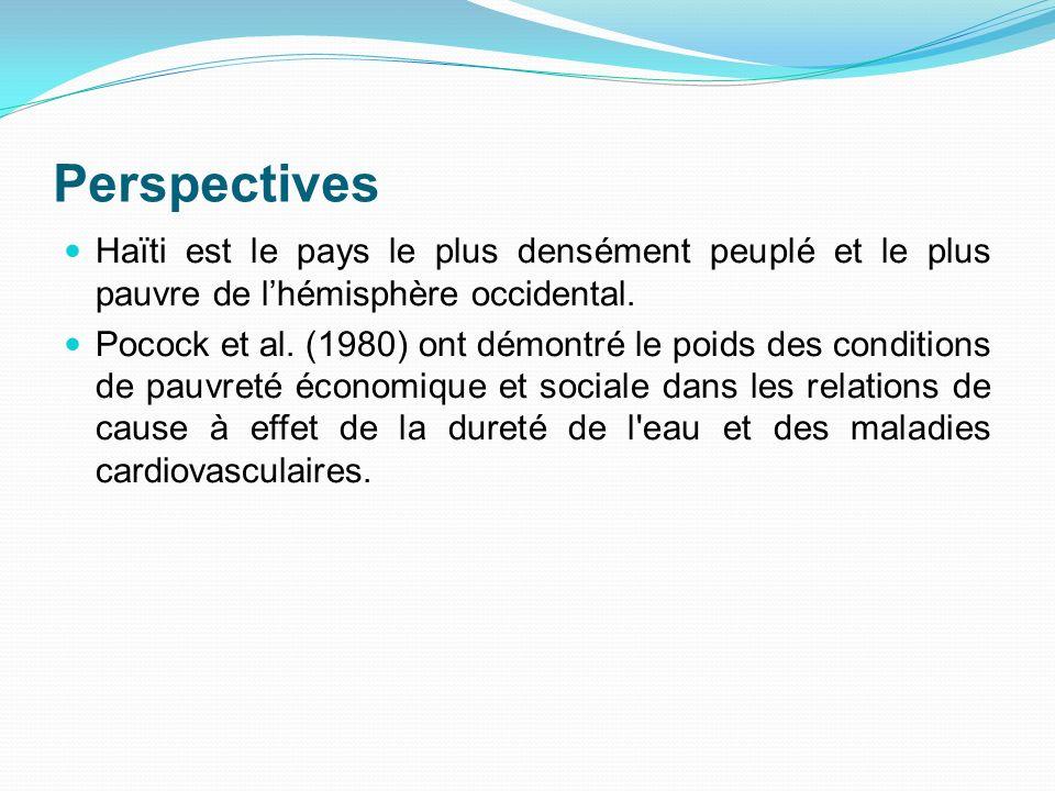 Perspectives Haïti est le pays le plus densément peuplé et le plus pauvre de lhémisphère occidental. Pocock et al. (1980) ont démontré le poids des co
