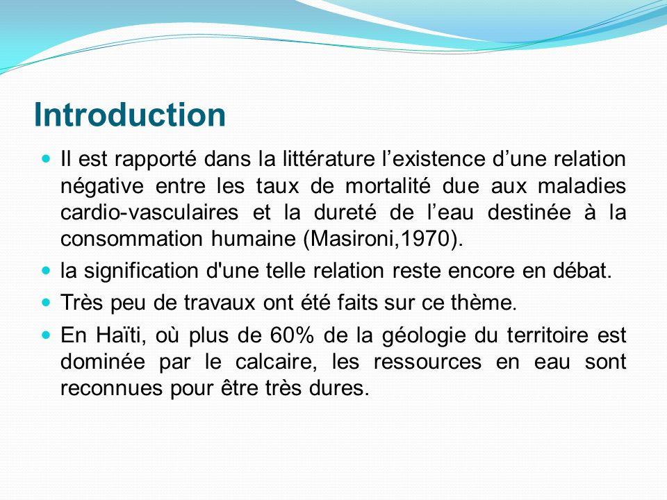 Introduction Il est rapporté dans la littérature lexistence dune relation négative entre les taux de mortalité due aux maladies cardio-vasculaires et
