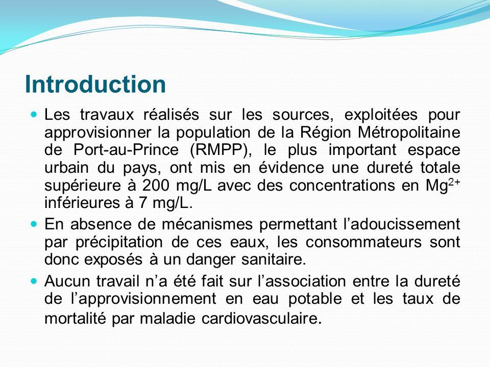 Introduction Les travaux réalisés sur les sources, exploitées pour approvisionner la population de la Région Métropolitaine de Port-au-Prince (RMPP),