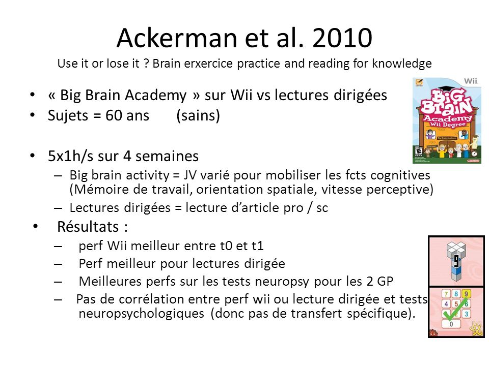 Ackerman et al. 2010 Use it or lose it .