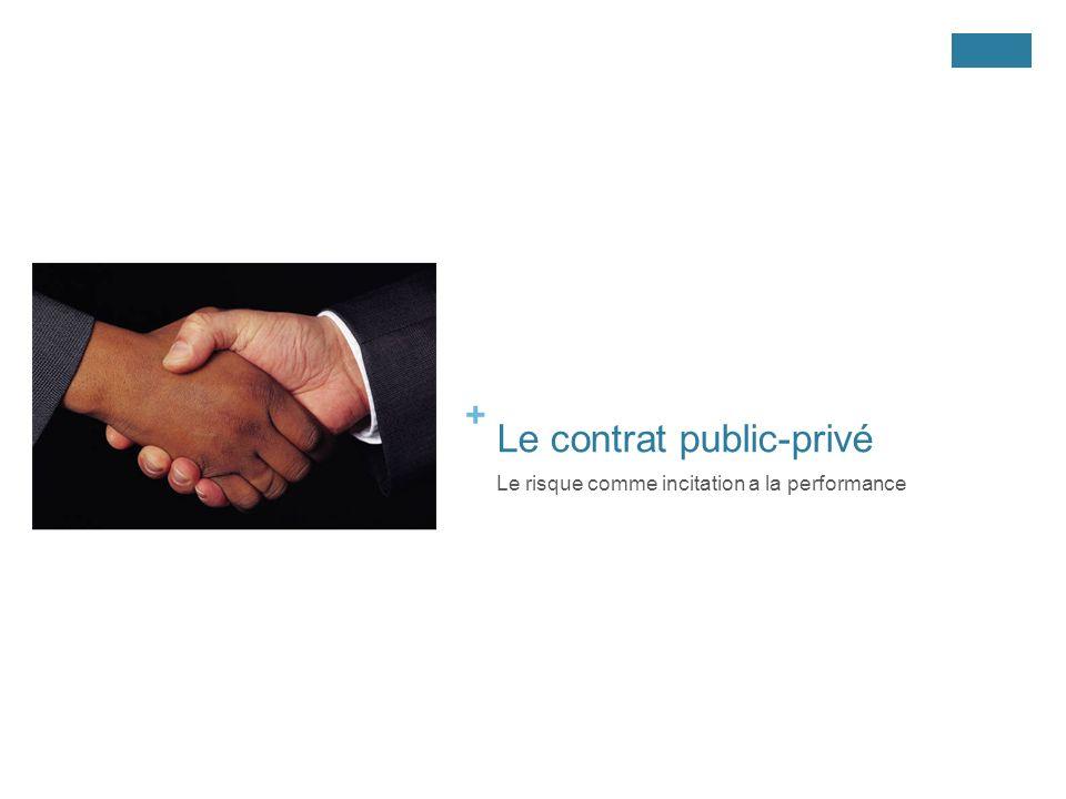 + Le contrat public-privé Le risque comme incitation a la performance