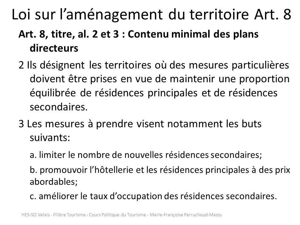 Loi sur laménagement du territoire Art.8 Art. 8, titre, al.