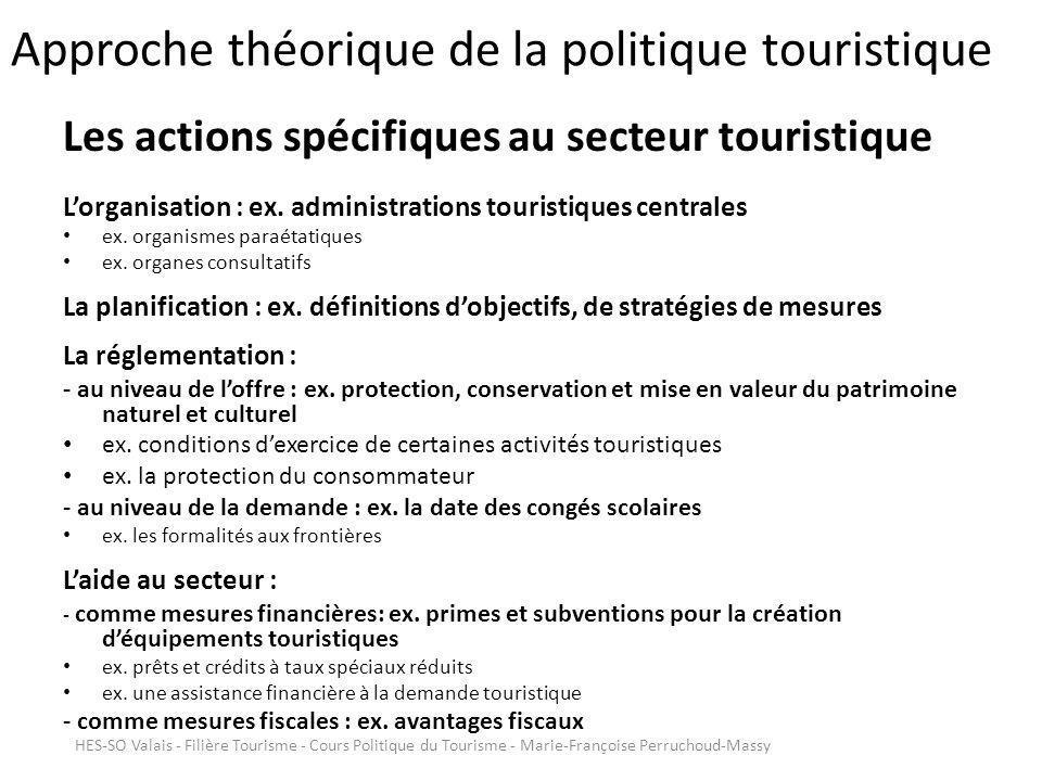 Approche théorique de la politique touristique Quels facteurs déterminent lorientation de la politique touristique .