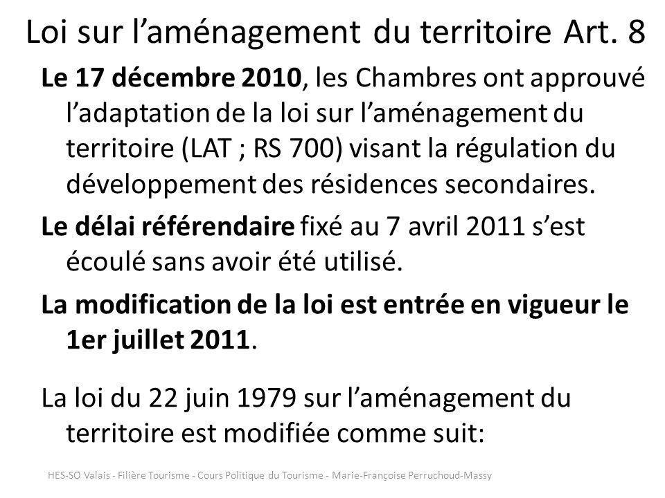 Loi sur laménagement du territoire Art.