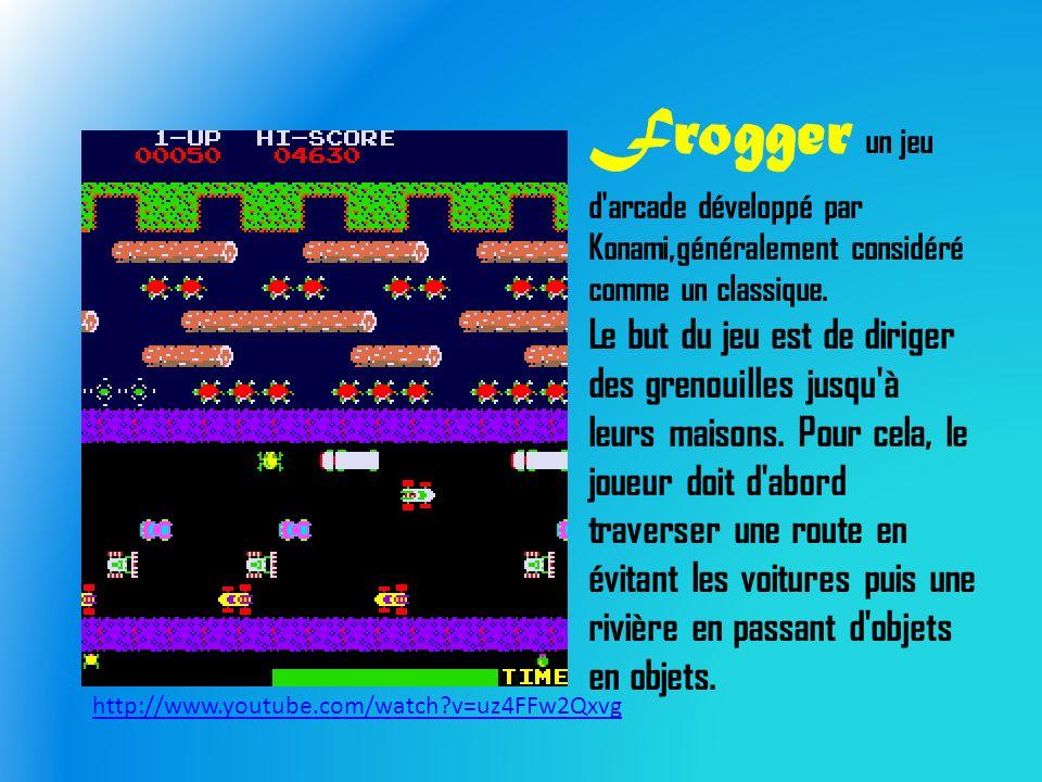 Frogger un jeu d arcade développé par Konami,généralement considéré comme un classique.