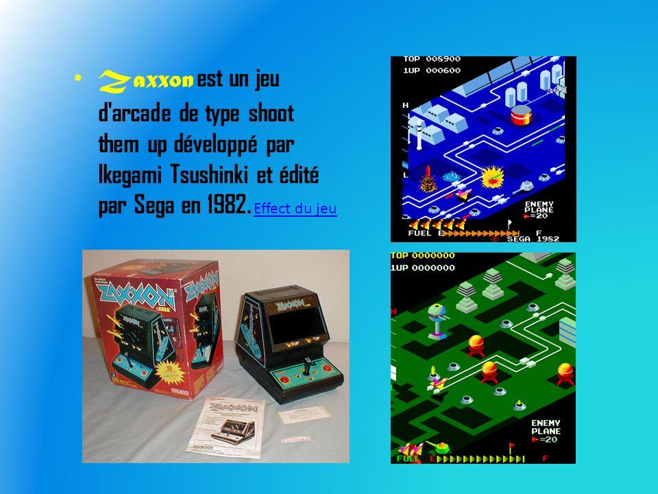 Zaxxon est un jeu d arcade de type shoot them up développé par Ikegami Tsushinki et édité par Sega en 1982.