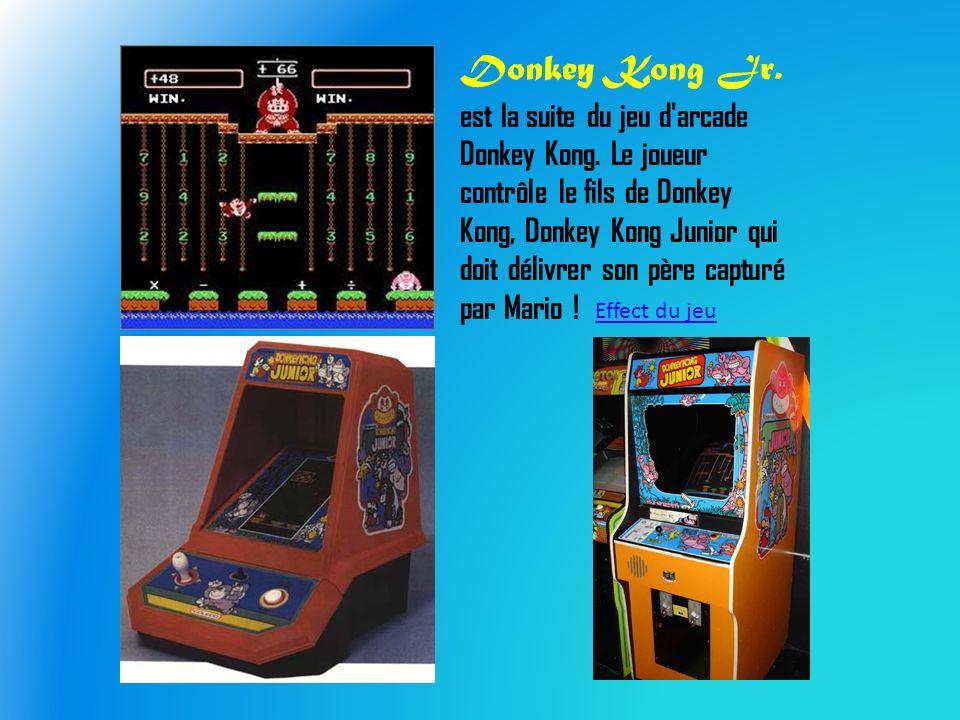 Donkey Kong Jr. est la suite du jeu d arcade Donkey Kong.