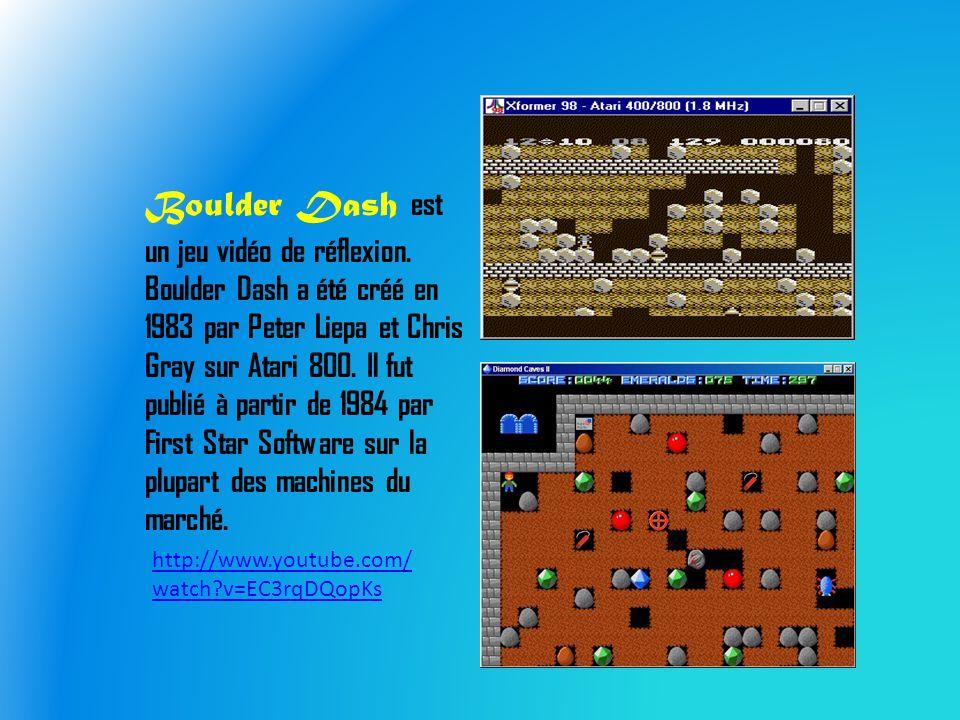 Boulder Dash est un jeu vidéo de réflexion.