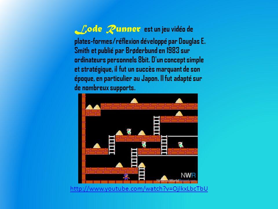 Lode Runner est un jeu vidéo de plates-formes/réflexion développé par Douglas E.
