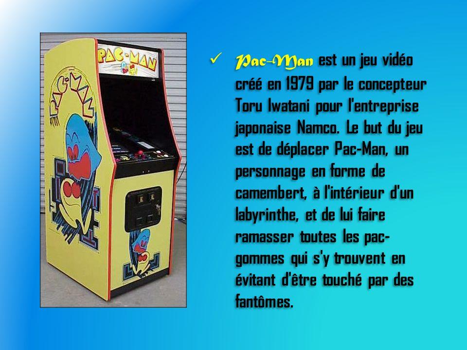 Pac-Man est un jeu vidéo créé en 1979 par le concepteur Toru Iwatani pour l entreprise japonaise Namco.