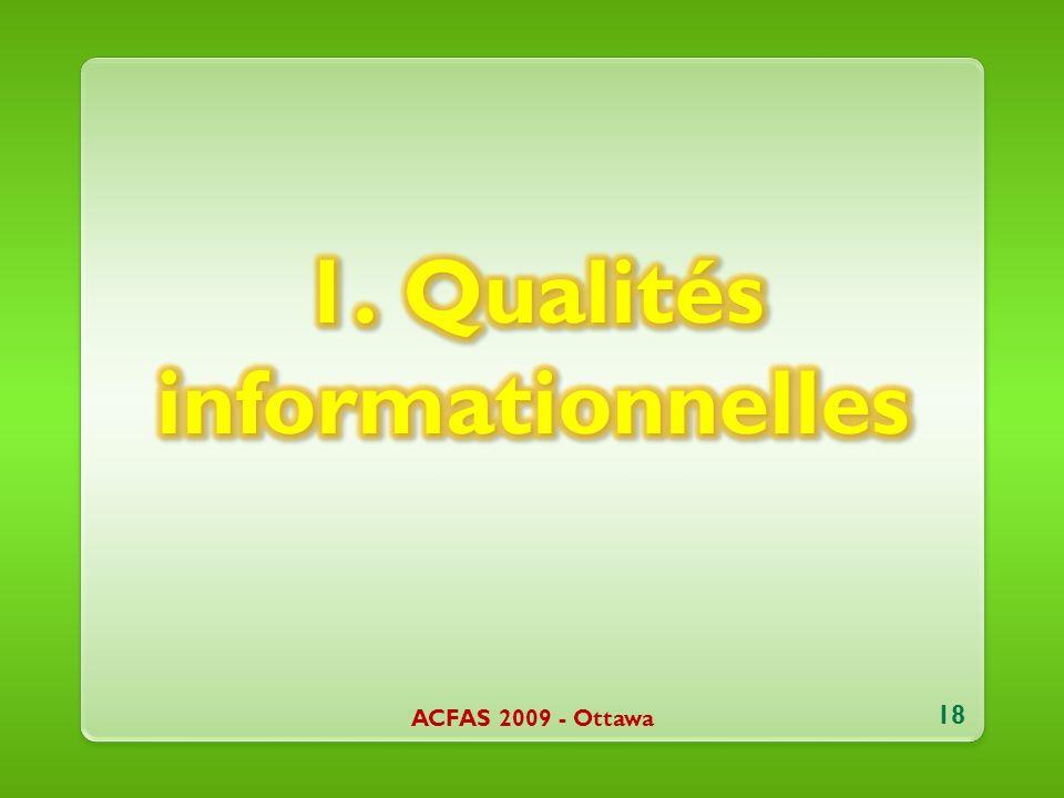 ACFAS 2009 - Ottawa 18