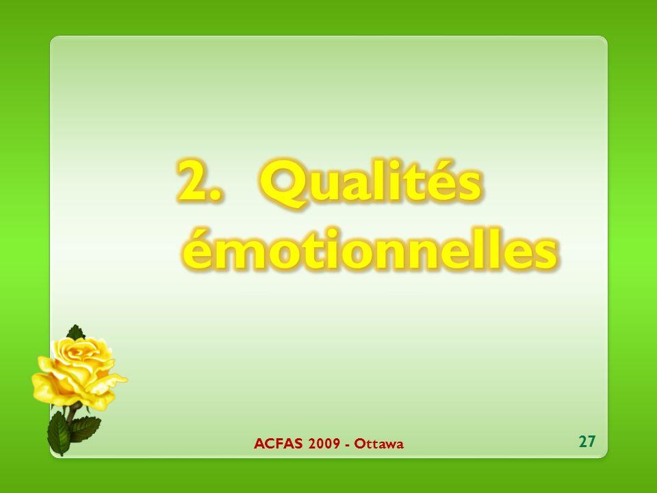 ACFAS 2009 - Ottawa 27