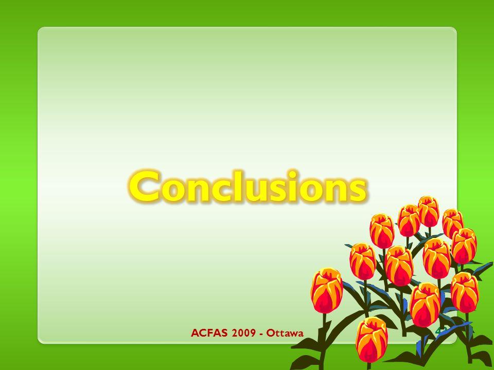 ACFAS 2009 - Ottawa 43