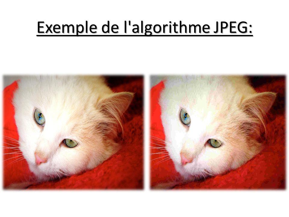 Exemple de l algorithme JPEG: