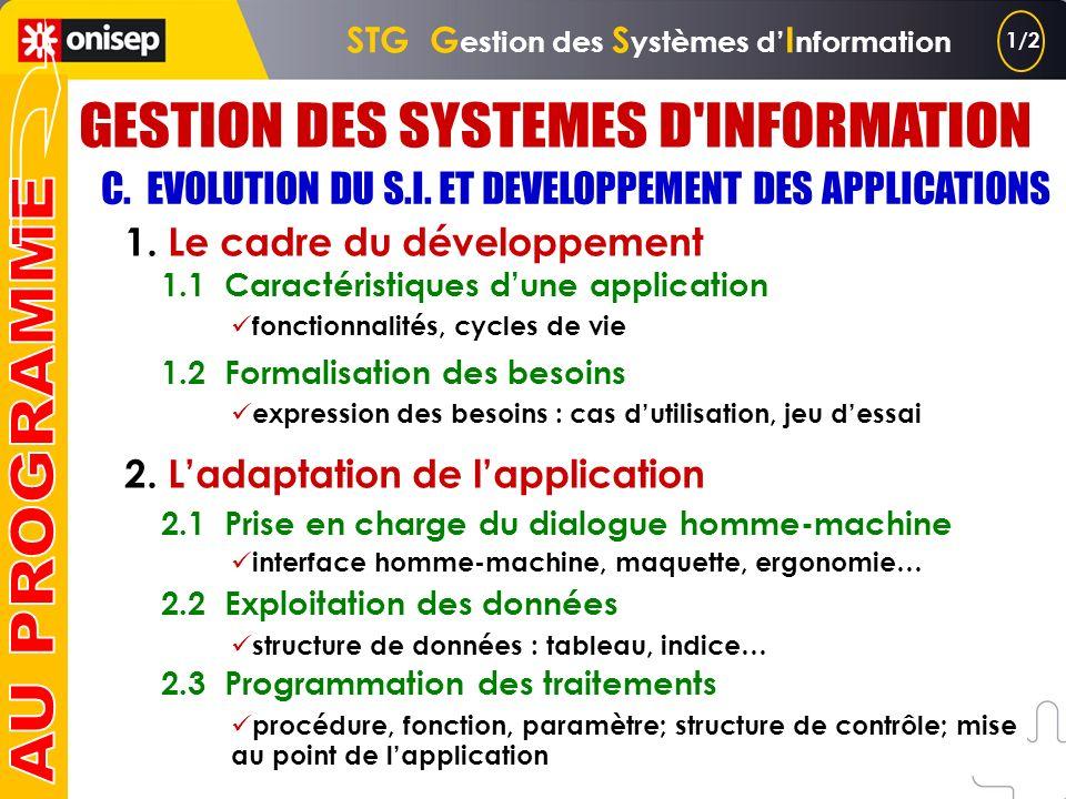 B. SERVICES FOURNIS PAR LE S.I. ET TECHNOLOGIES ASSOCIEES (suite) 3. Le recours aux applications 3.1 Environnement de travail de lutilisateur 3.2 Arch