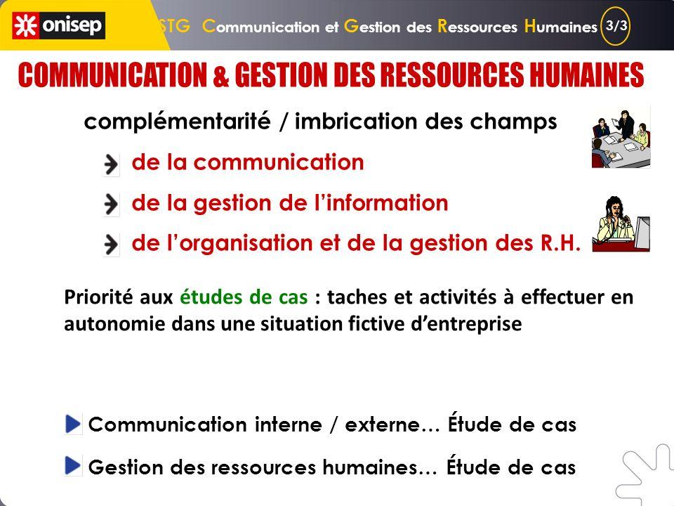 STG C ommunication et G estion des R essources H umaines faire circuler une information transmettre un message de façon claire sadresser au bon interl