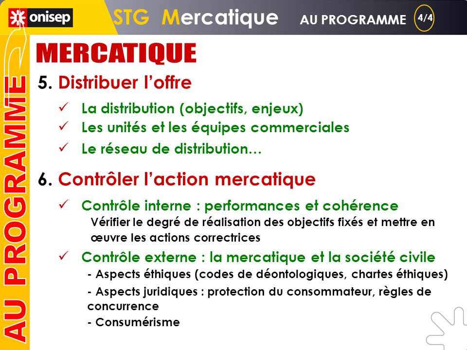 3. Construire loffre 4. Communiquer loffre Loffre : produits et services, gamme, assortiment, composantes matérielles et immatérielles, marque, cycle