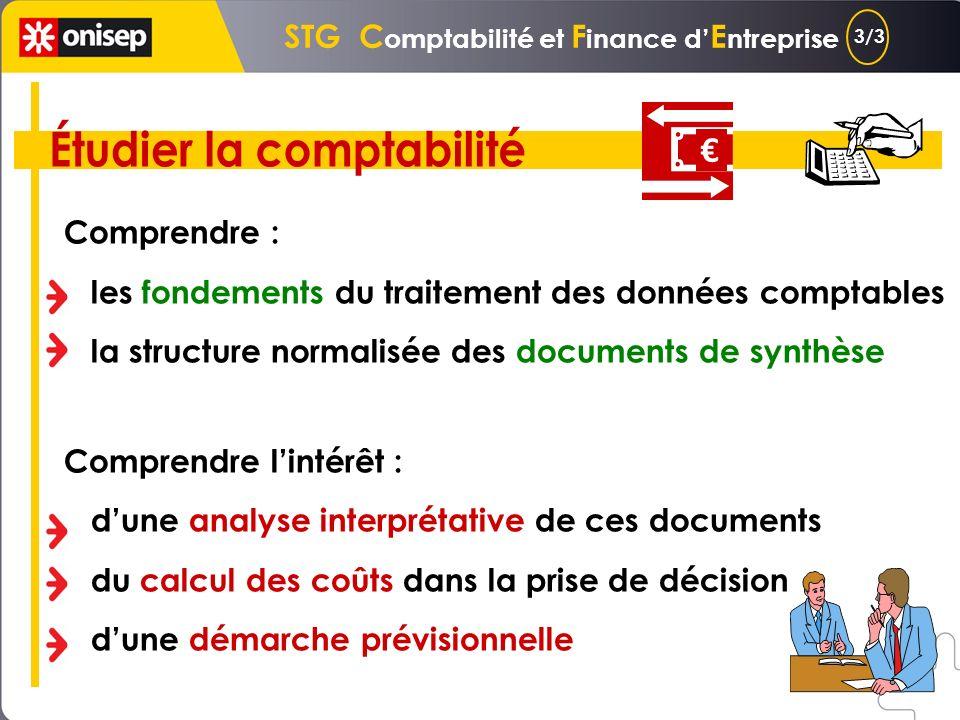 STG C omptabilité et F inance d E ntreprise Étude de notions relatives à la : comptabilité financière comptabilité de gestion informations financières