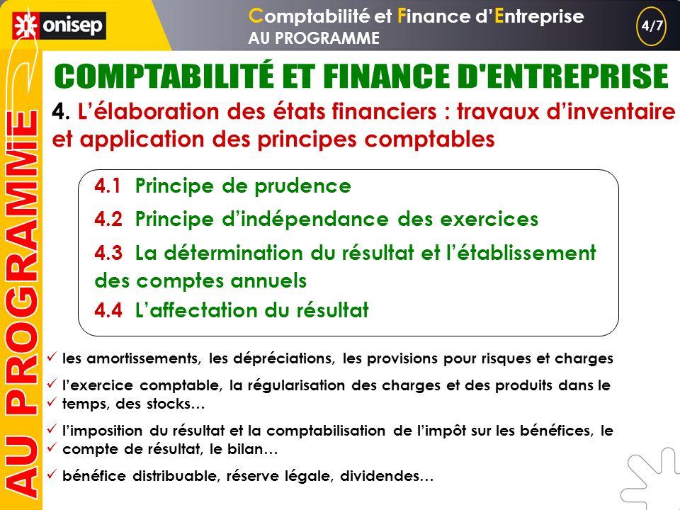 C omptabilité et F inance d E ntreprise AU PROGRAMME 3. Lorganisation et la gestion des systèmes comptables informatisés 3.1 La base de données, suppo
