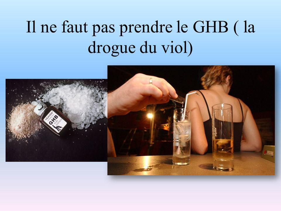 Il ne faut pas prendre le GHB ( la drogue du viol)
