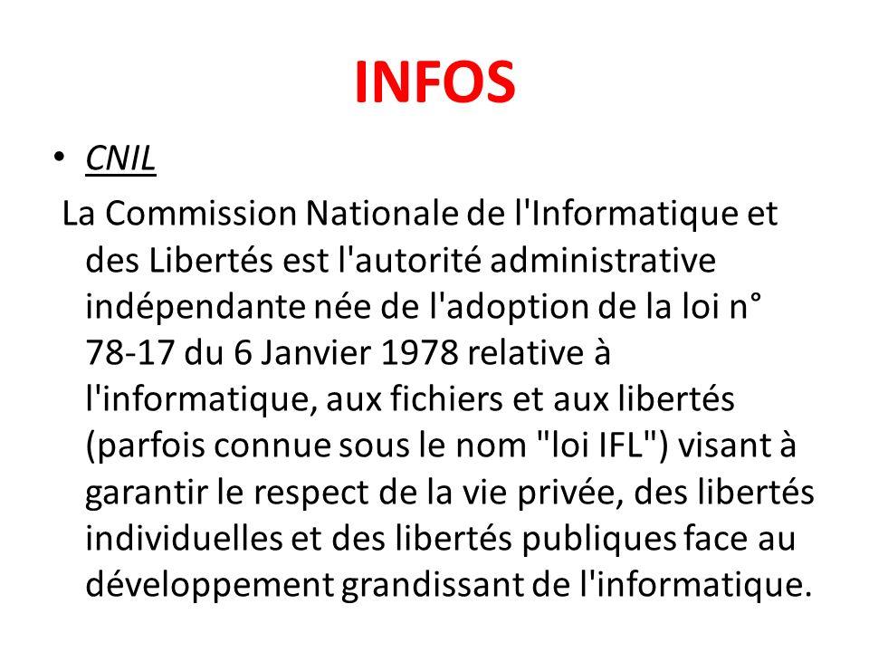 CNIL La Commission Nationale de l'Informatique et des Libertés est l'autorité administrative indépendante née de l'adoption de la loi n° 78-17 du 6 Ja