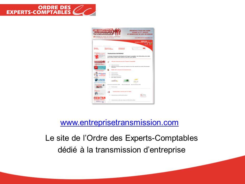 www.entreprisetransmission.com Le site de lOrdre des Experts-Comptables dédié à la transmission dentreprise