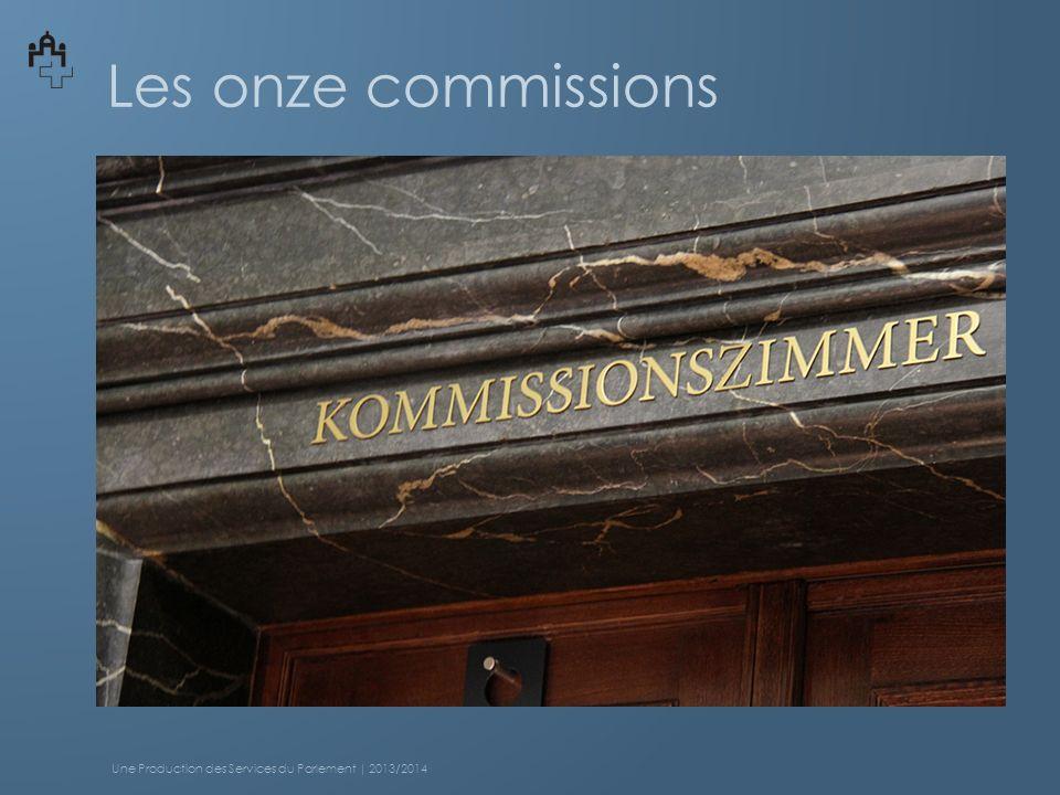 Les onze commissions Une Production des Services du Parlement | 2013/2014