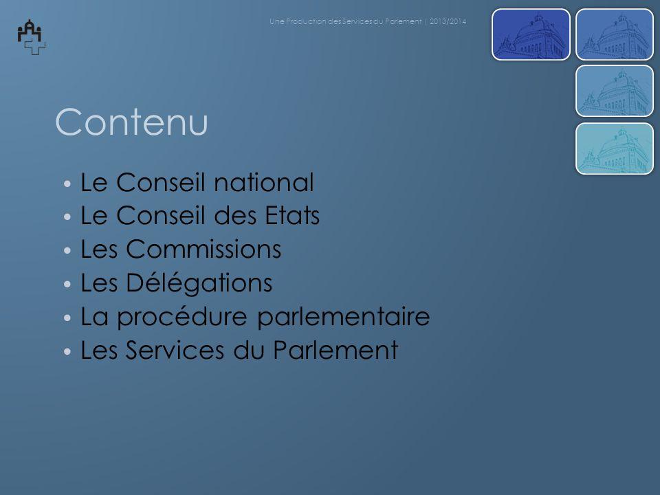 Délibérations du Conseil des Etats Une Production des Services du Parlement | 2013/2014