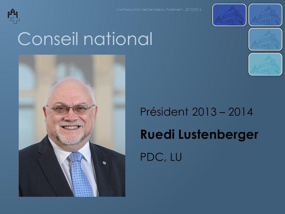 Délibérations du Conseil national Une Production des Services du Parlement | 2013/2014