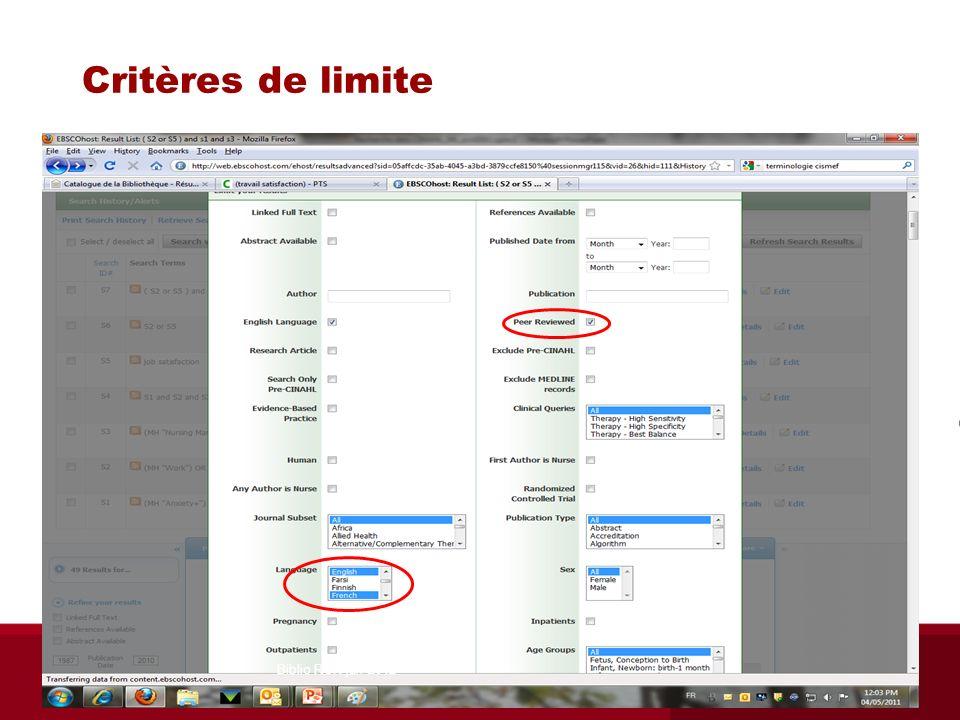 Critères de limite Biblio RGN jan 2012