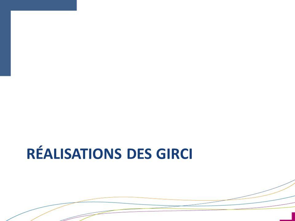 RÉALISATIONS DES GIRCI