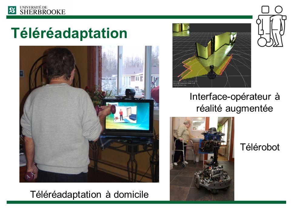 Téléréadaptation Interface-opérateur à réalité augmentée Télérobot Téléréadaptation à domicile