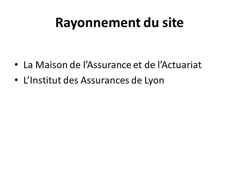 Rayonnement du site La Maison de lAssurance et de lActuariat LInstitut des Assurances de Lyon