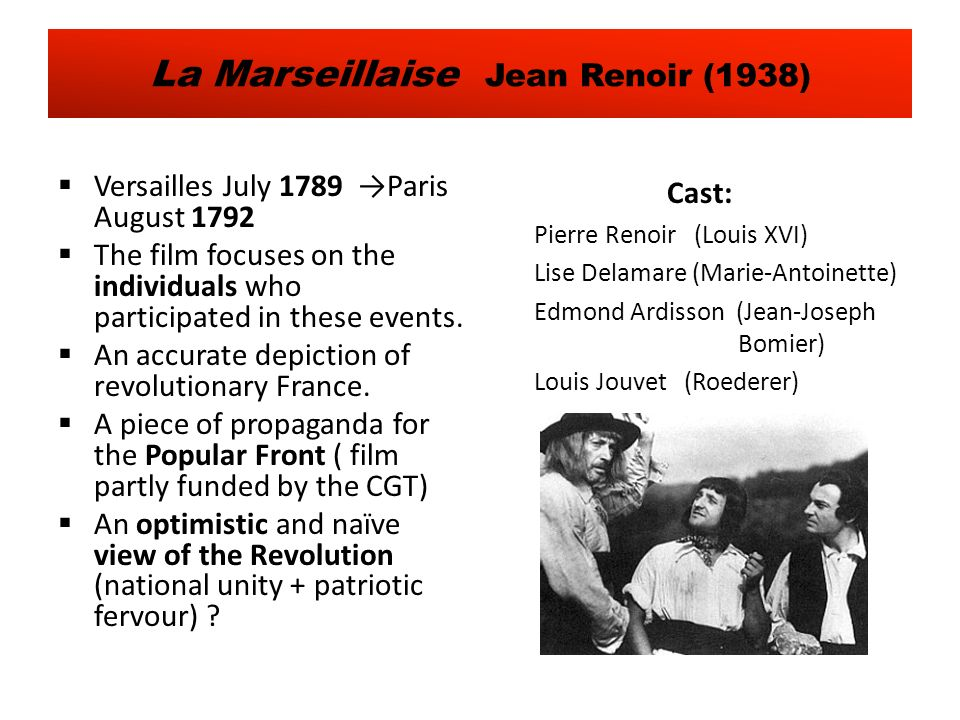 Versailles July 1789 Paris August 1792 The film focuses on the individuals who participated in these events.