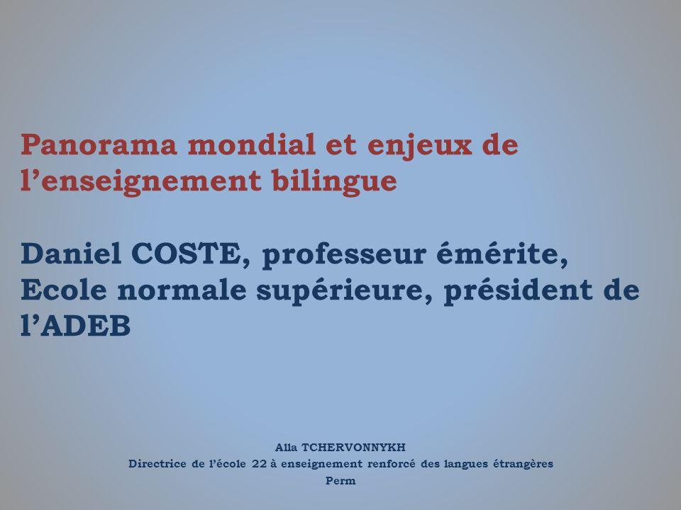Quels sont les arguments pour lenseignement bilingue .