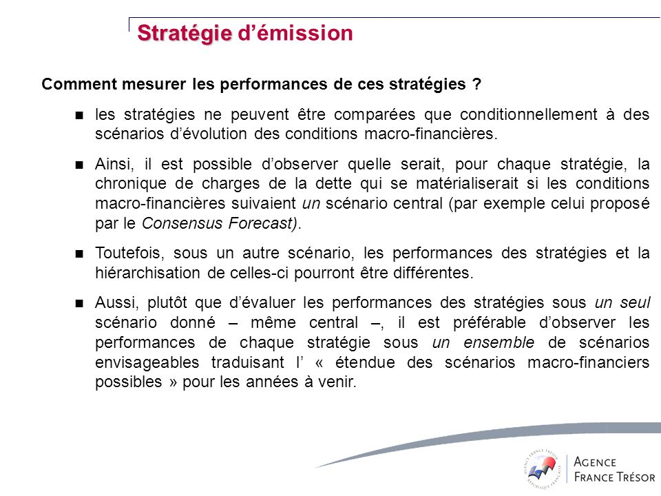 Comment mesurer les performances de ces stratégies .