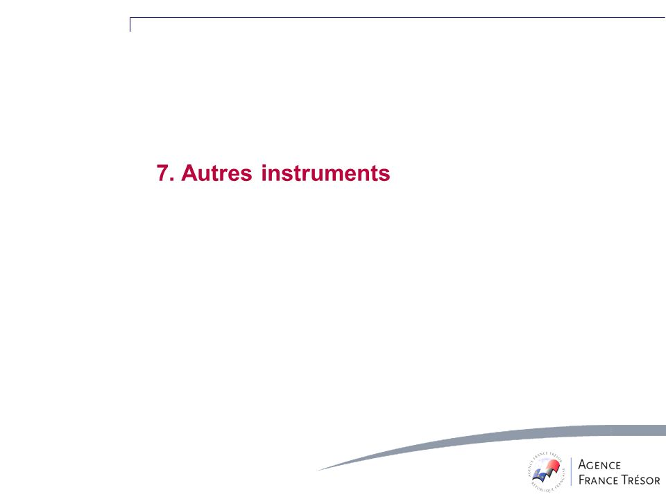 7. Autres instruments