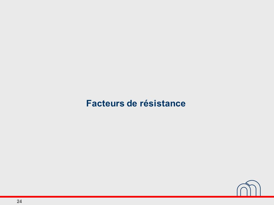 Facteurs de résistance 24