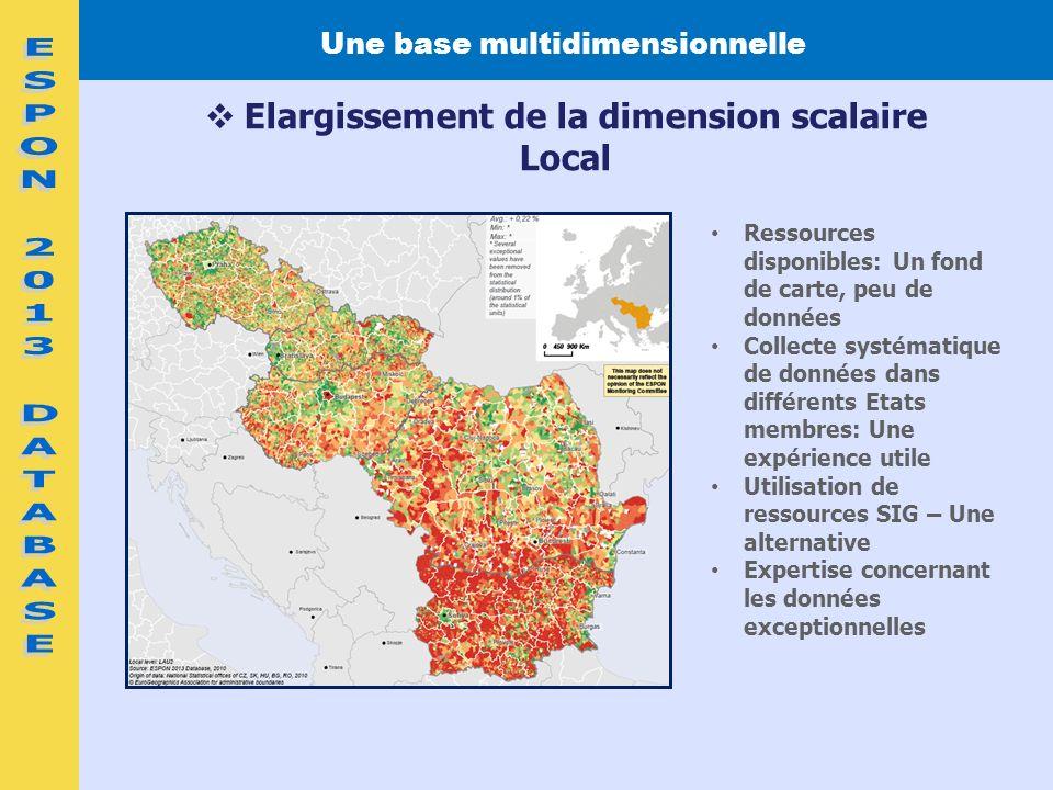 Ressources disponibles: Un fond de carte, peu de données Collecte systématique de données dans différents Etats membres: Une expérience utile Utilisat