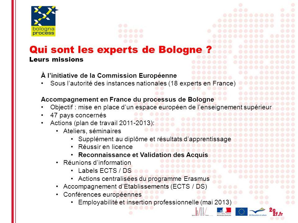 Eliane Kotler2 Qui sont les experts de Bologne ? Leurs missions À linitiative de la Commission Européenne Sous lautorité des instances nationales (18