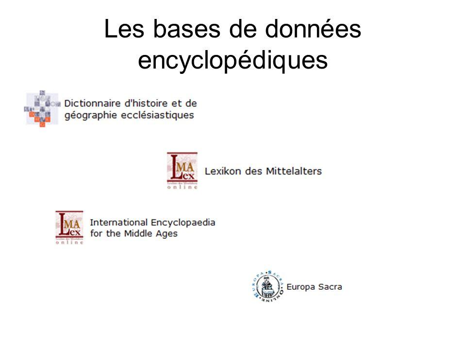 Les bases de données encyclopédiques