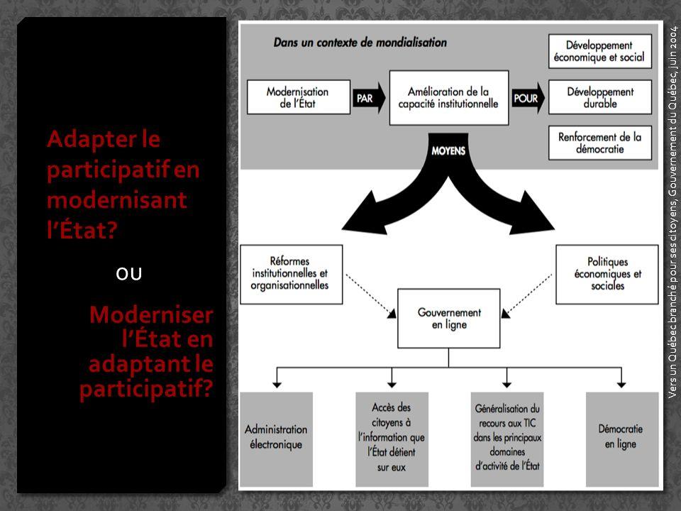 Adapter le participatif en modernisant lÉtat.