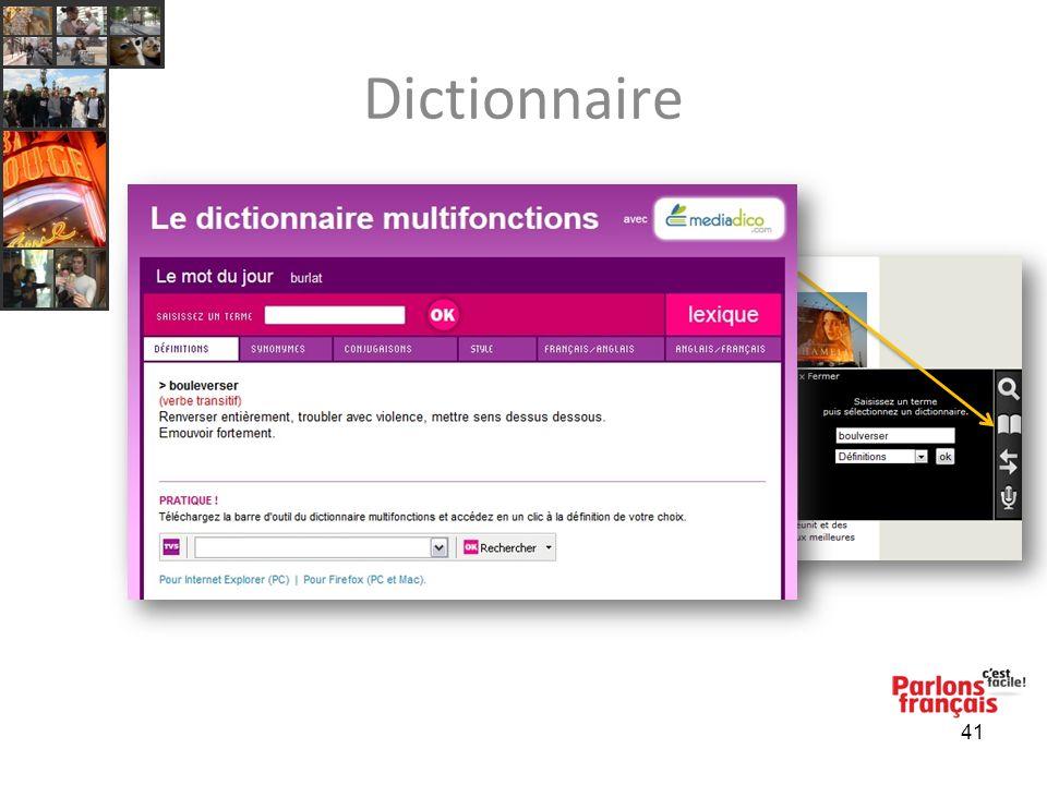 Dictionnaire 41