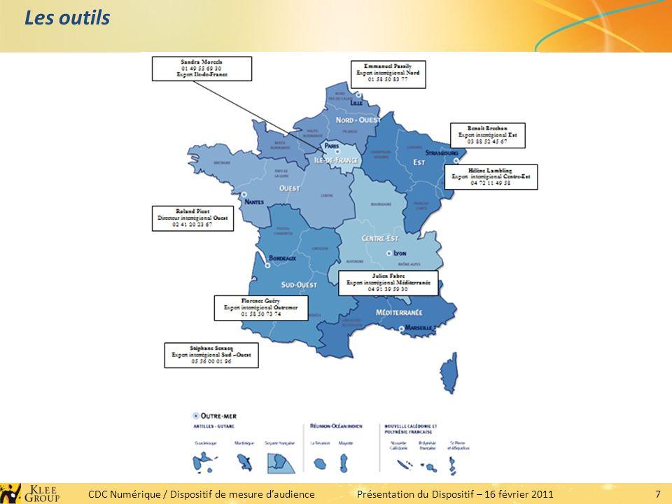 7 CDC Numérique / Dispositif de mesure daudiencePrésentation du Dispositif – 16 février 2011 Les outils