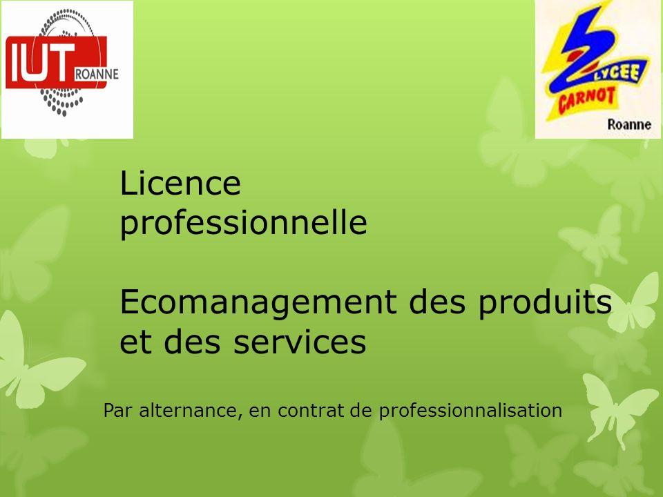 Licence professionnelle Ecomanagement des produits et des services Par alternance, en contrat de professionnalisation