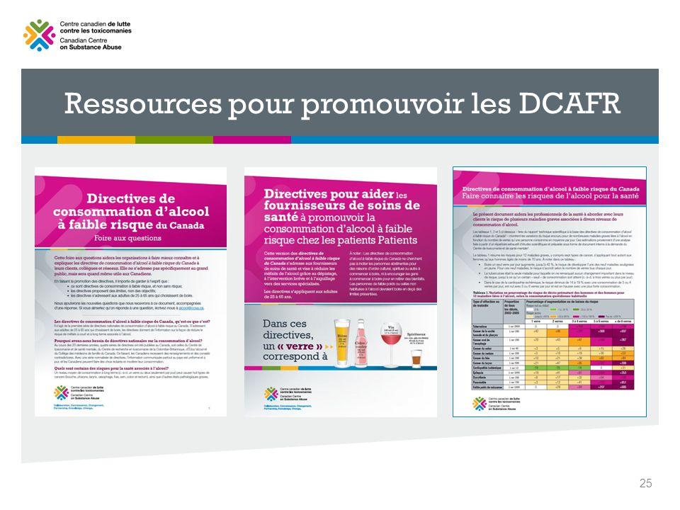 Ressources pour promouvoir les DCAFR 25